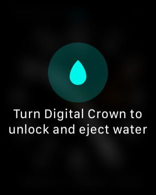 how to enter water mode on the apple watch