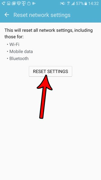 how to reset network settings in android marshmallow