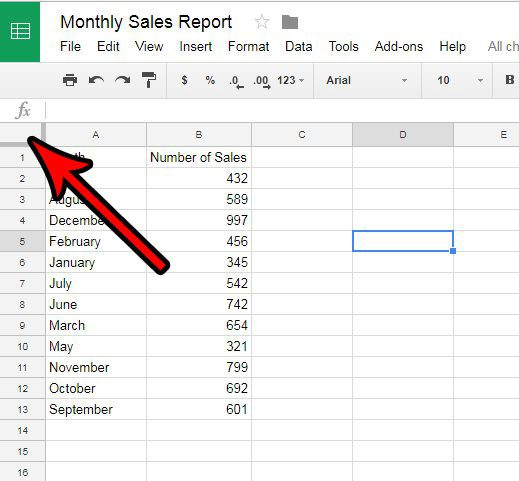 change the size of more than one column at once in google sheets