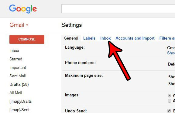 how to change gmail inbox type