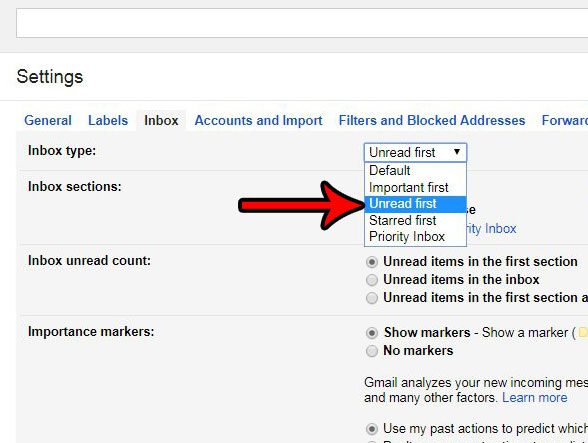 how to show unread emails first in gmail
