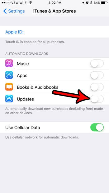 how to turn off automatic app updates on iphone 7