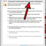 how to view blocked senders in outlook 2013