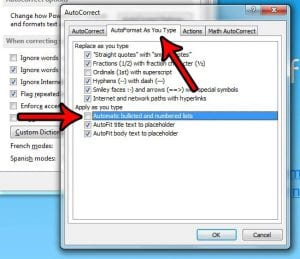 How to Turn off Automatic Lists in Powerpoint 2013