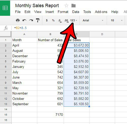 How To Remove The Dollar Sign In Google Sheets Solve Your Tech - Google spreadsheet format