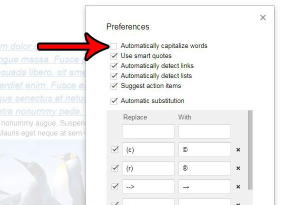 How to Stop Automatically Capitalizing Words in Google Docs - Solve