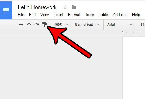 how to copy and paste formatting in google docs
