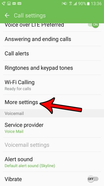 call waiting setting in android marshmallow