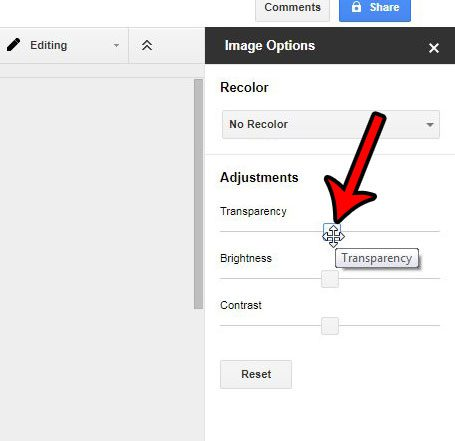 How To Adjust The Transparency On A Picture In Google Docs Solve