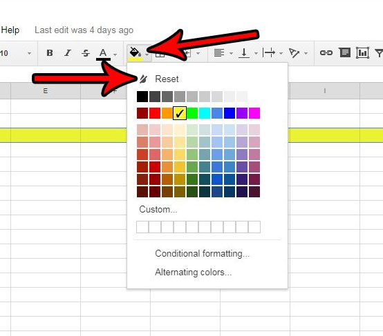 how to remove fill color in google sheets solve your tech