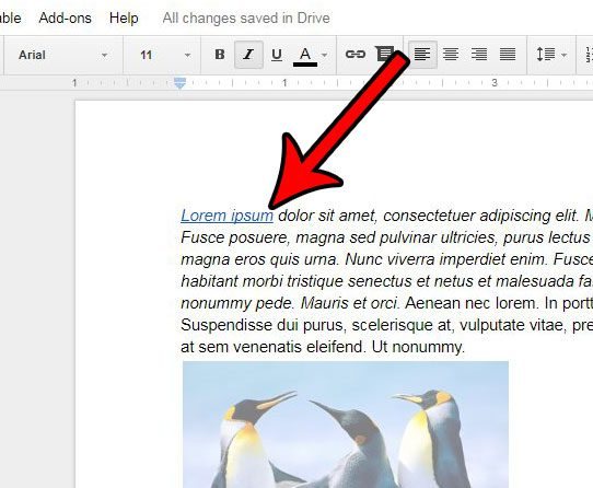 how to delete a google docs hyperlink