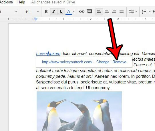 How to Remove a Link from a Document in Google Docs - Solve