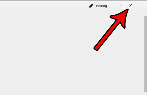 how to restore file menu visibility in google docs