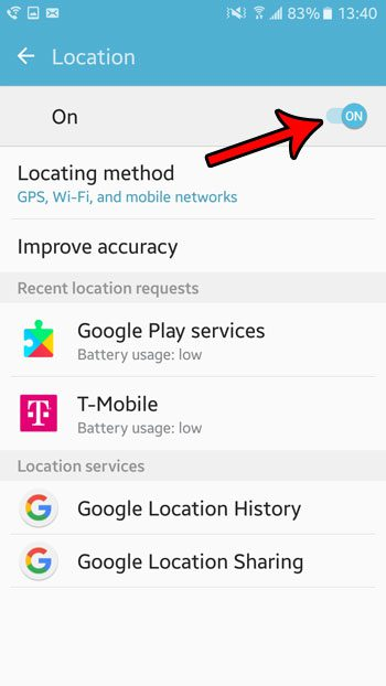 how to turn on location in android marshmallow