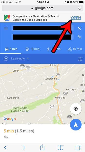 how to open discord google map links in google maps