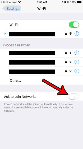 iphone 7 how to stop asking to join wifi networks