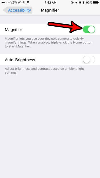 how to enable the magnifier on the iphone 7