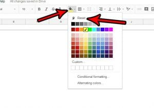 How to Remove Cell Shading in Google Sheets
