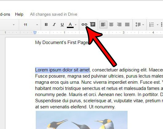 how to create link in google docs
