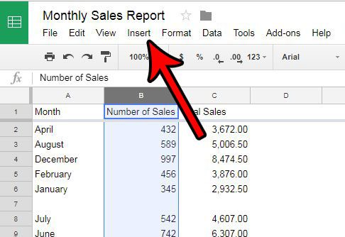 how to add a column in google sheets spreadsheet