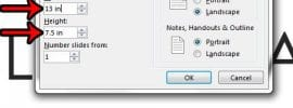 how to set legal size in powerpoint 2013