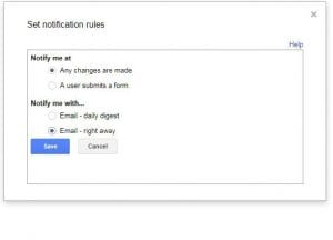 How to Enable Change Notifications in Google Sheets