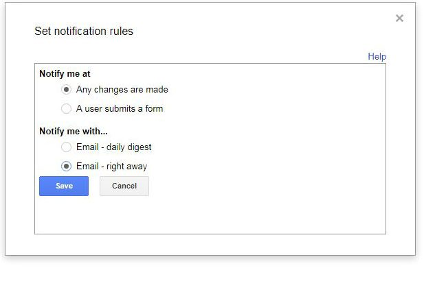 how to get change notifications google sheets