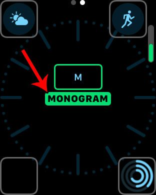 how to set the monogram on the apple watch
