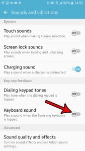how to silence keyboard sounds in android marshmallow