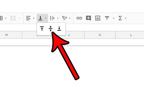 how to center vertically in google sheets