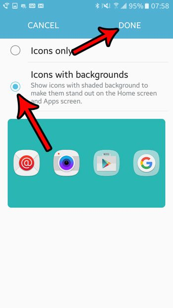 android app icon without background