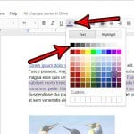 how to change text color in google docs