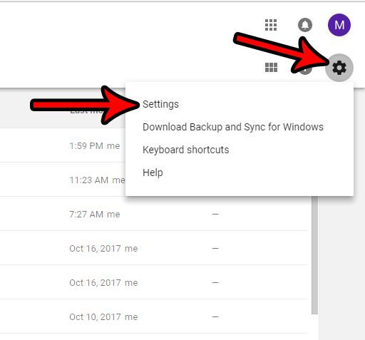 open google docs settings