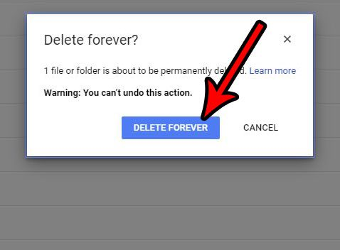 how to permanently delete file google drive