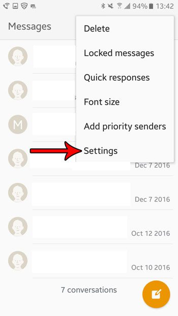 marshmallow messages settings