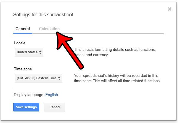 enable google sheets iterative calculations