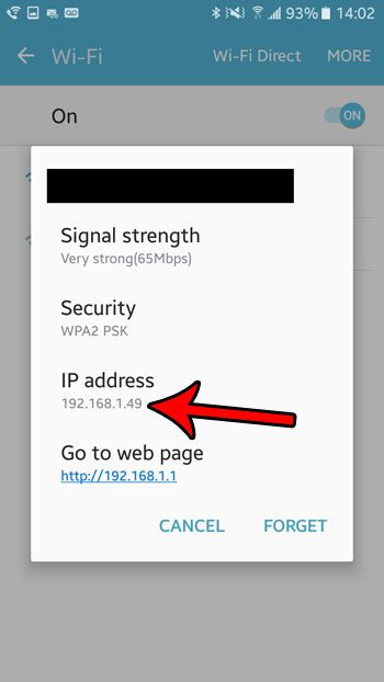how to find wifi ip address in android marshmallow