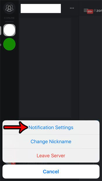 discord server notification settings