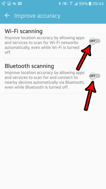 how to turn off wifi and bluetooth scanning for location accuracy in android marshmallow