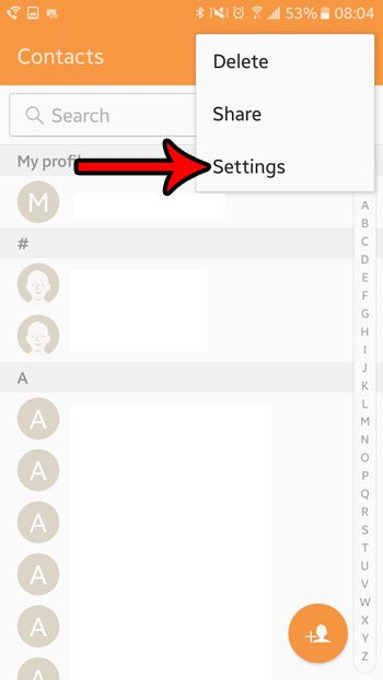 contact settings