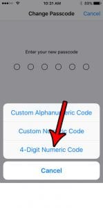 iPhone SE – How to Switch to a 4 Digit Passcode