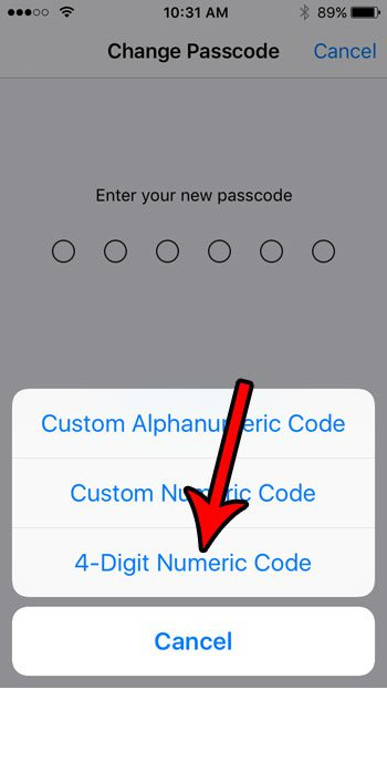 iPhone SE - How to Switch to a 4 Digit Passcode - Solve Your