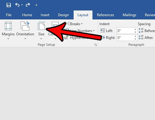set page size to a4 in word 2016
