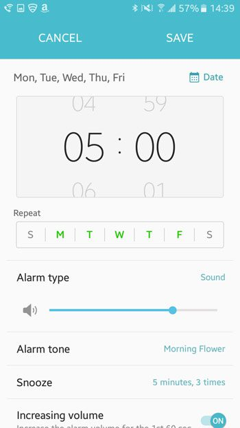 how to create an alarm in android marshmallow