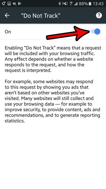 how enable do not track chrome marshmallow