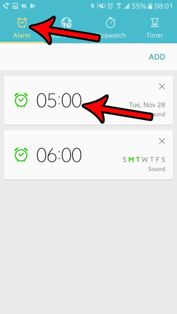 how to change android marshmallow alarm