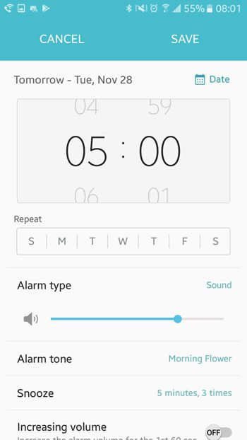 how to edit an alarm in android marshmallow