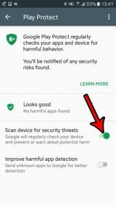 how to enable play protect in android marshmallow