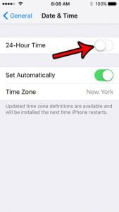 How to Switch Back from 24 Hour Time on an iPhone SE