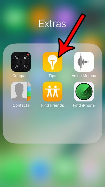 locate the iphone se tips app